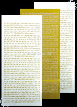 Afbeeldingen van LeCreaDesign® Alfabet stickers mirror yellow