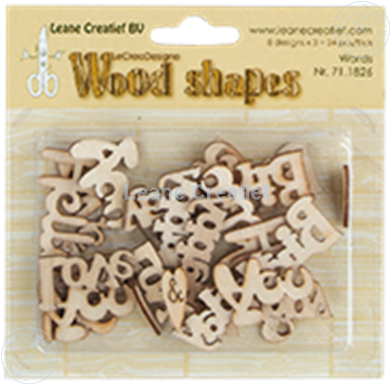 Bild von Woodshapes Words from the heart