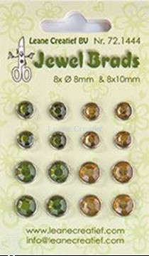 Image de Jewel brads moss green/light gold