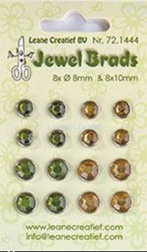 Picture of Jewel brads moss green/light gold
