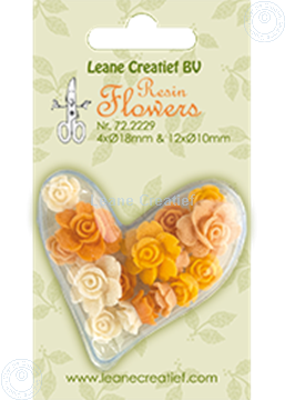 Picture of Resin flowers roses yellow