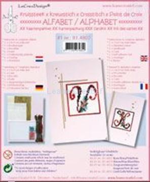 Image de Alphabet point de croix kit de cartes avec perles #1