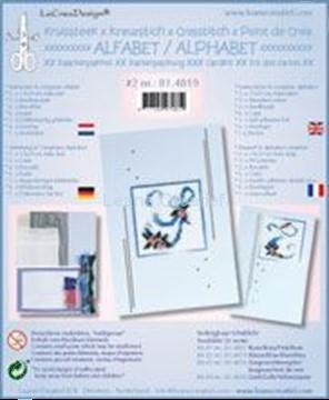 Image de Alphabet point de croix kit de cartes avec perles #2