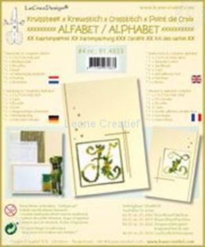 Image de Alphabet point de croix kit de cartes avec perles #4