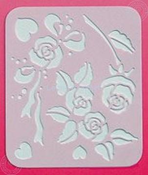 Image de LeCreaDesign® Pochoir Spirella roses