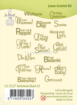 Picture of Clear stamp Sentiments 2 Dutch