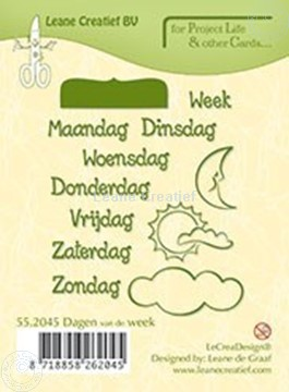 Afbeeldingen van Dagen van de week NEDERLANDS
