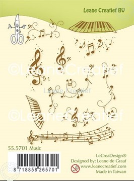 Picture of Combi clear stamp Music