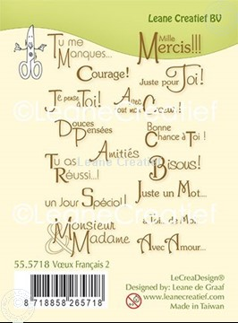 Picture of Combi clear stamp Texte French
