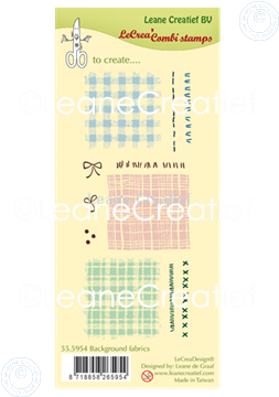Picture of LeCreaDesign® clear stamp Background Fabrics and Stitches