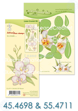 Picture of Set Multi Die & Clearstamp Orchid
