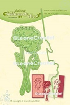 Afbeeldingen van Lea'bilitie® Klaproos silhouette snij en embossing mal