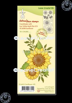Image de LeCreaDesign®  tampon clair Fleur de Soleil 3D