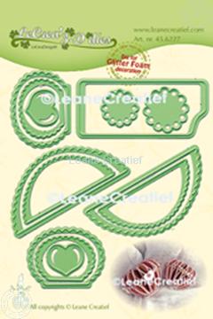 Image de Lea'bilitie® Glitter Foam décoration Cœur bord festonné matrice pour découper