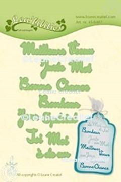 Afbeeldingen van Lea'bilitie® Franse teksten snijmal