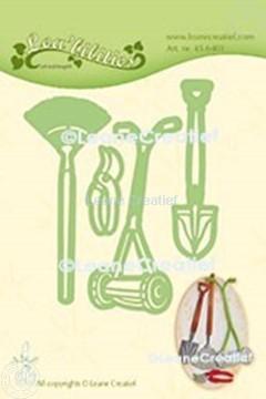 Afbeeldingen van Lea'bilitie® Tuin set grasmaaier, schep, hark snij en embossing mal