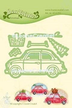 Afbeeldingen van Lea'bilitie® Auto Fiat 500 snij en embossing mal