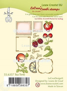 Picture of LeCreaDesign® combi clear stamp Tea Time