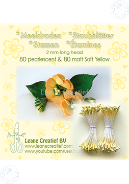 Picture of Stamen 2mm,  80 matt & 80 pearl Soft yellow