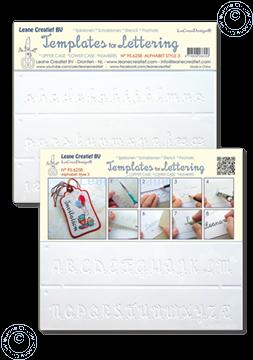 Image de 2 Pochoirs pour Handlettering Alphabet  Nº 3, lettres majuscule + lettres minuscule + chiffres
