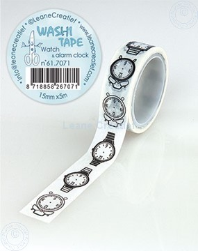 Picture of Washi tape Watch & alarm clock, 15mm x 5m.