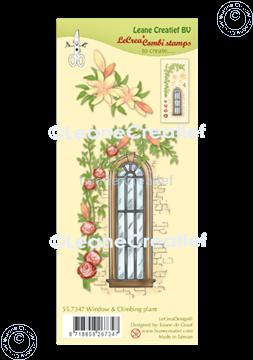 Bild von LeCreaDesign® Kombi Silikon Stempel Fensterrahmen mit Kletterpflanze