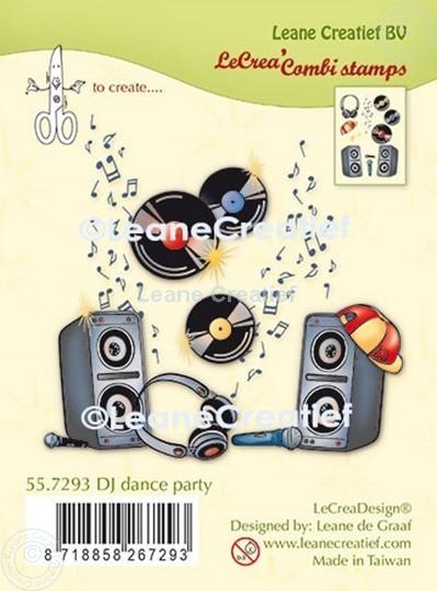 Afbeelding van LeCreaDesign® combi clear stamp DJ dance party