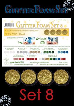 Image de Glitter Foam set 8, 4 feuilles A4 Or