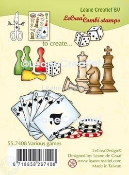 Bild von LeCreaDesign® Silikon Kombi Stempel  Verschiedene Spiele