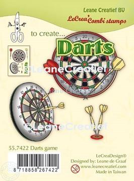 Bild von LeCreaDesign® Silikon Kombi Stempel  Dartspiel