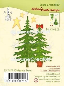 Bild von LeCreaDesign® Silikon Kombi Stempel  Weihnachtsbäume