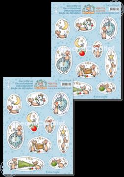 Image de Feuilles de décoration The World of Mice, Joy of X-Mas